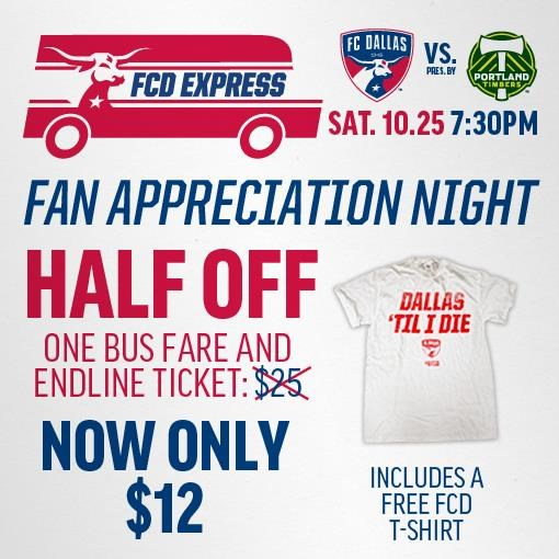 FCD Express Red Line 10/25 FCD vs. Portland